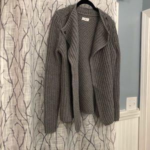 Lou & Grey small grey sweater cardigan